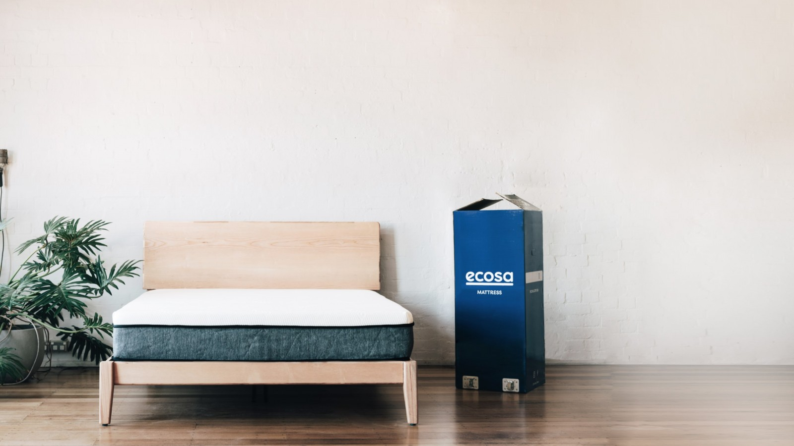 bed next to box